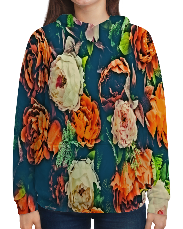 Толстовка с полной запечаткой Printio Flowers чехол для iphone 5 глянцевый с полной запечаткой printio flowers