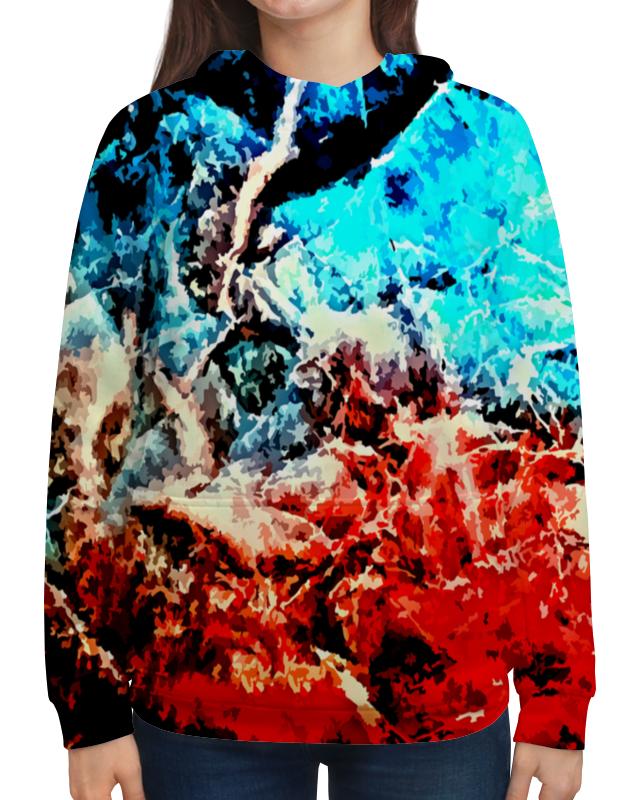 Толстовка с полной запечаткой Printio Лед и пламя рубашка поло с полной запечаткой printio лед и пламя