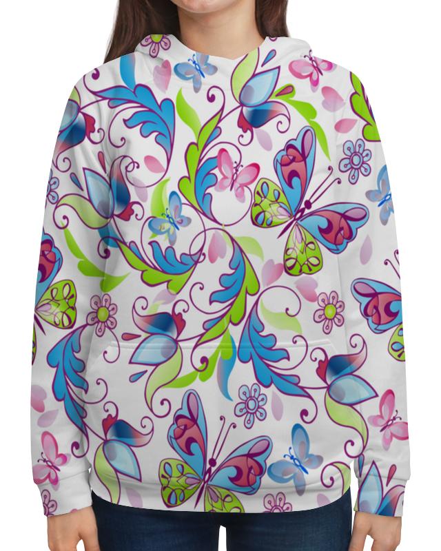 Толстовка с полной запечаткой Printio Цветы и бабочки толстовка с полной запечаткой printio бабочки