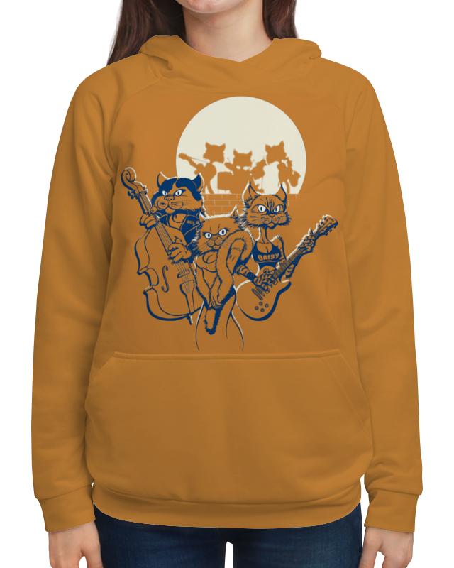 Толстовка с полной запечаткой Printio Кошачий концерт футболка с полной запечаткой женская printio кошачий концерт