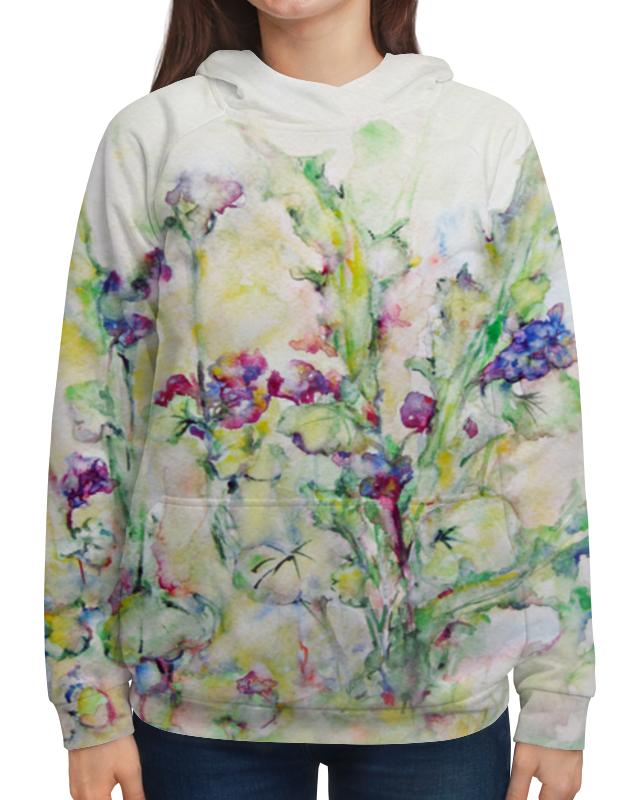 Толстовка с полной запечаткой Printio Незабудки футболка с полной запечаткой printio цветы любви