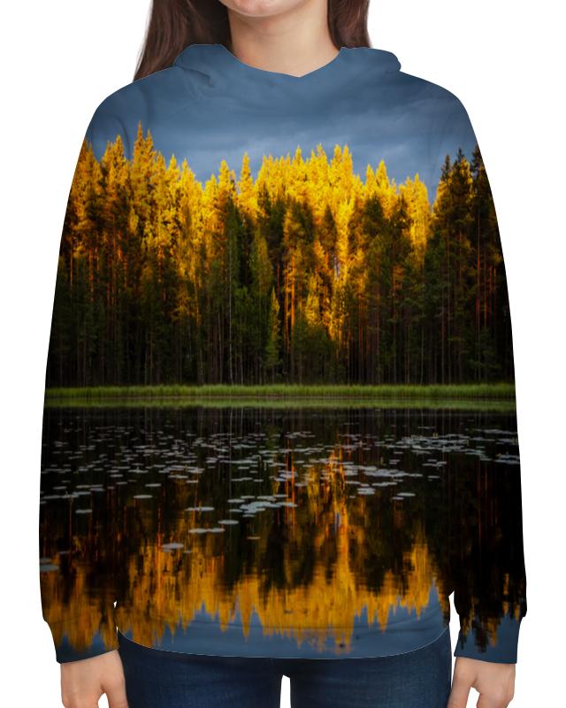 Толстовка с полной запечаткой Printio Осенний пейзаж чехол для iphone 5 глянцевый с полной запечаткой printio осенний день сокольники левитан