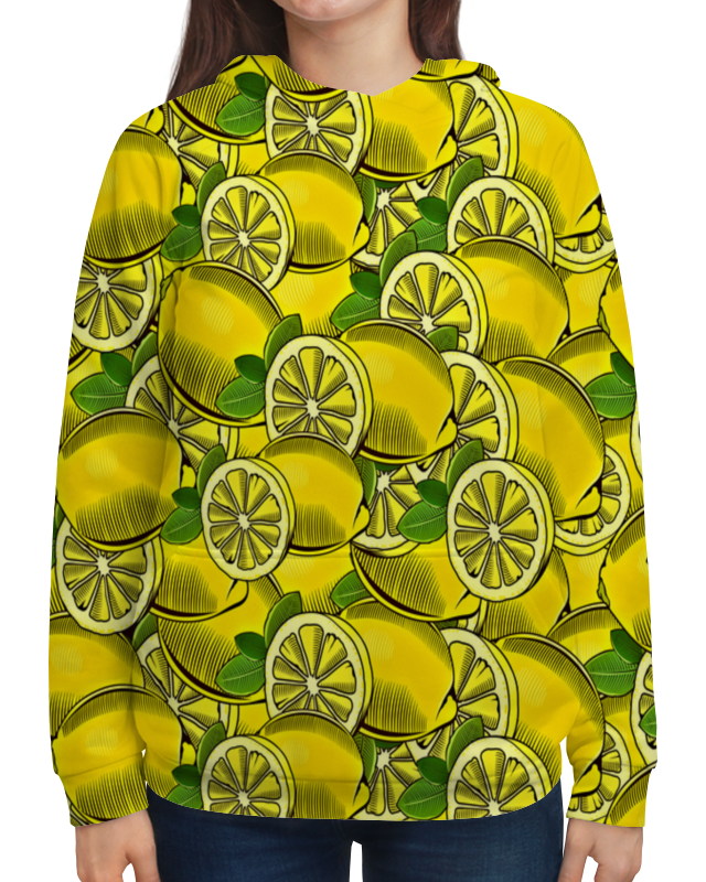 Толстовка с полной запечаткой Printio Лимон