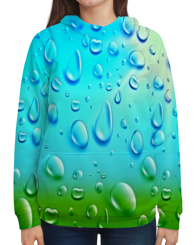 Толстовка с полной запечаткой Printio Капли толстовка с полной запечаткой printio сердце капли дождя любовь