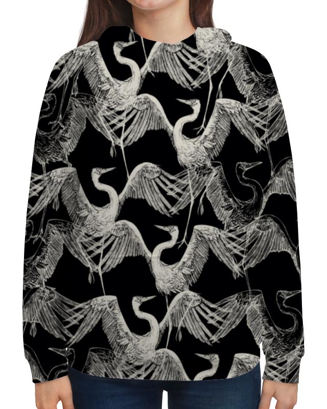 Толстовка с полной запечаткой Printio Журавль платье с рукавами printio журавль