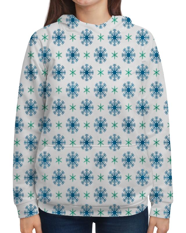 Толстовка с полной запечаткой Printio Падающие снежинки футболка с полной запечаткой мужская printio падающие снежинки
