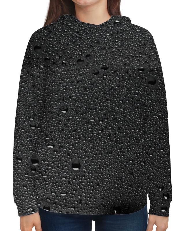 Толстовка с полной запечаткой Printio Женская черные капли