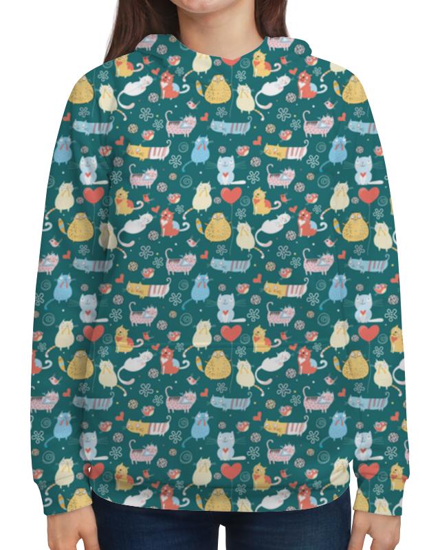 Толстовка с полной запечаткой Printio Счастливые котики бомбер printio счастливые котики