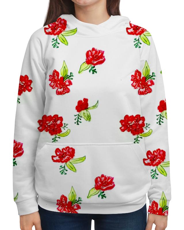 Толстовка с полной запечаткой Printio Толстовка красные цветы