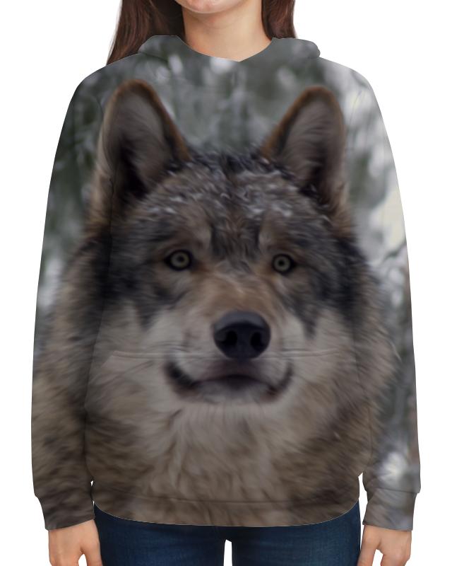 Толстовка с полной запечаткой Printio Волк в лесу цена
