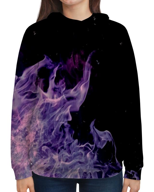Толстовка с полной запечаткой Printio Синий огонь футболка с полной запечаткой для девочек printio синий огонь