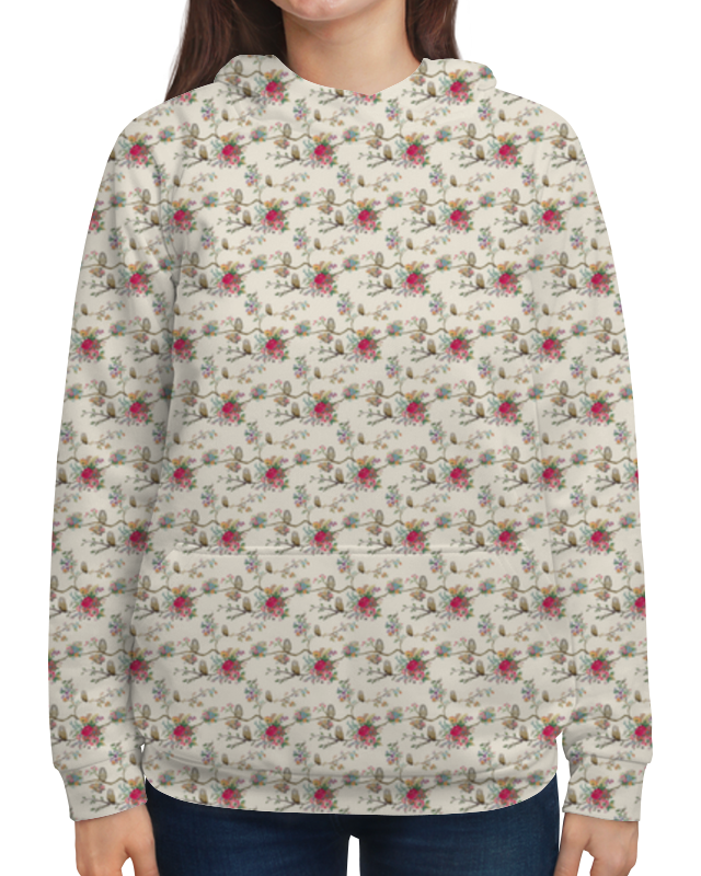 Толстовка с полной запечаткой Printio Floral owl pair of sweet night owl and floral shape rhinestone decorated earrings for women