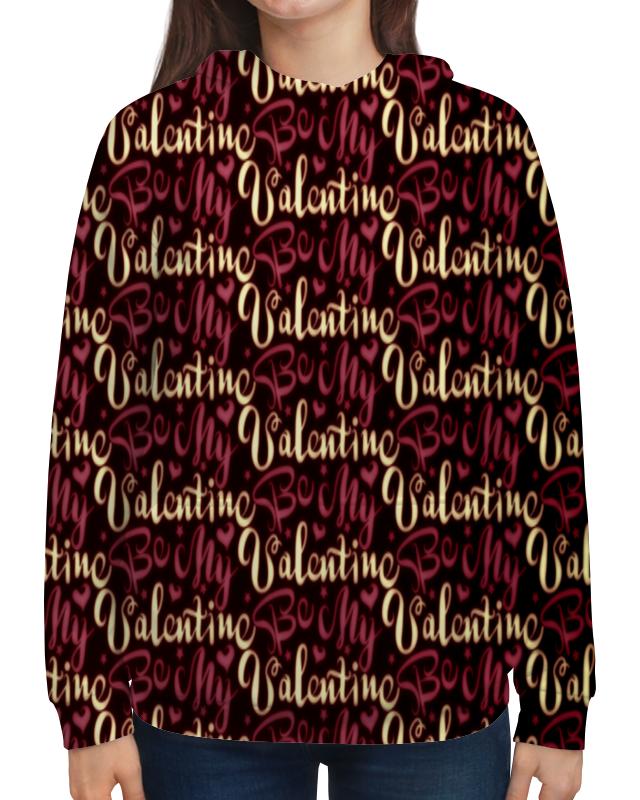 Толстовка с полной запечаткой Printio Valentine открытые системы понимашка развлекательно развивающий журнал 40 2016