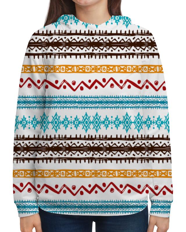 Толстовка с полной запечаткой Printio Этнический жен ожерелья с подвесками мода этнический перо кофейный красный синий 70cm ожерелье назначение праздники для улицы