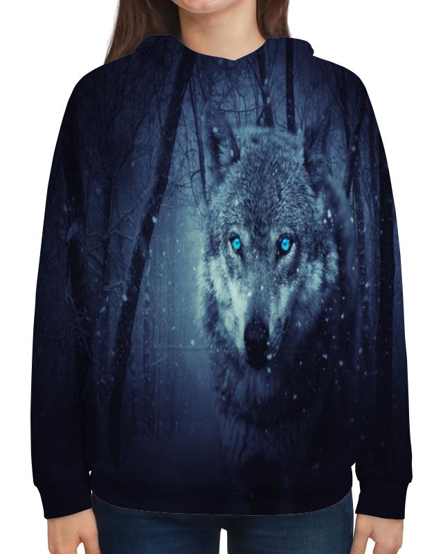Толстовка с полной запечаткой Printio Волчий взгляд волчий круг