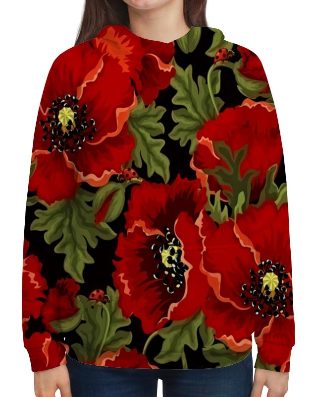 Толстовка с полной запечаткой Printio Полевые маки юбка карандаш printio полевые маки