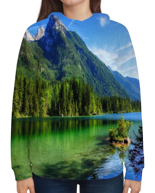 Толстовка с полной запечаткой Printio Горное озеро горное гнездо
