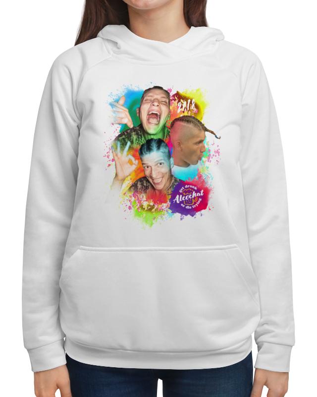 Толстовка с полной запечаткой Printio Alcochat hoodie white velvet drop shoulder hoodie with pocket