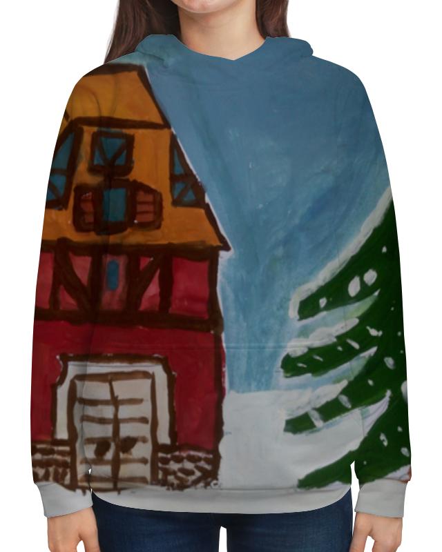 Толстовка с полной запечаткой Printio Домик в лесу сумка с полной запечаткой printio лось в лесу