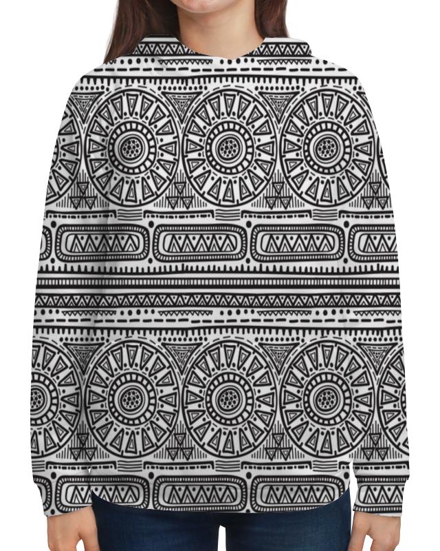 Толстовка с полной запечаткой Printio Черно-белый орнамент толстовка с полной запечаткой printio орнамент из кругов