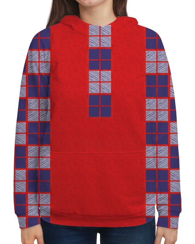 Толстовка с полной запечаткой Printio Red&square клавиатура red square tesla