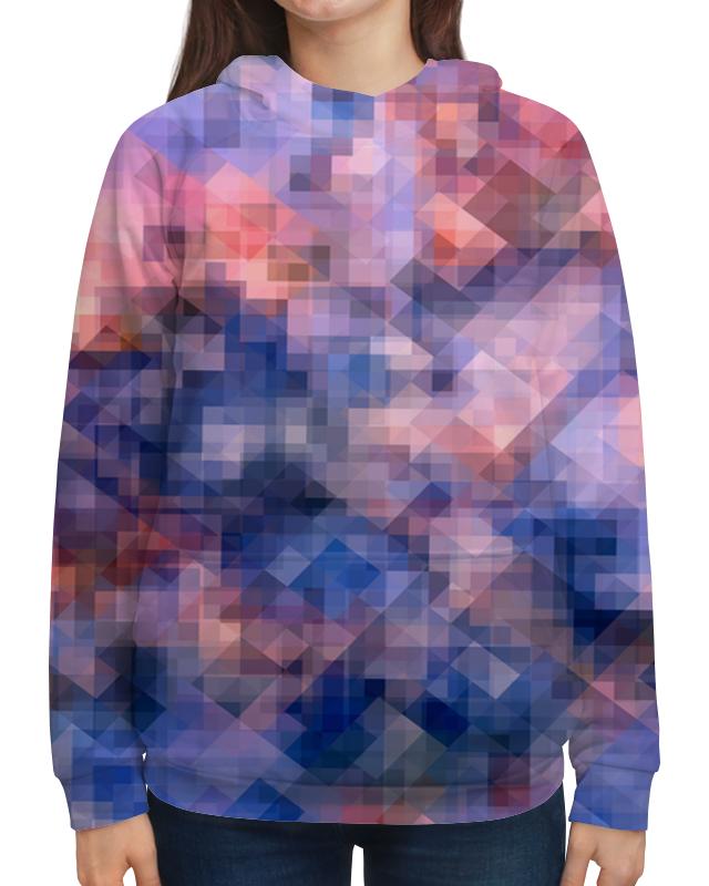 Толстовка с полной запечаткой Printio Пиксель-арт. сине-розовый паттерн волченко ю с пиксель арт