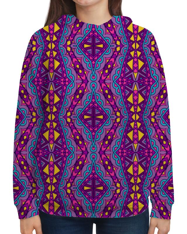 Толстовка с полной запечаткой Printio Фиолетовая мозаика