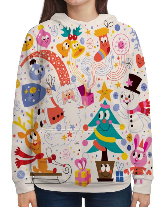 Толстовка с полной запечаткой Printio Зимние праздники футболка с полной запечаткой для мальчиков printio зимние праздники