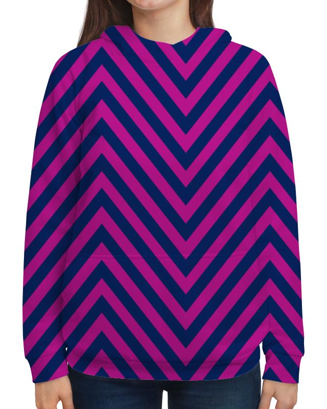 Толстовка с полной запечаткой Printio Фиолетовые полосы футболка с полной запечаткой женская printio фиолетовые полосы