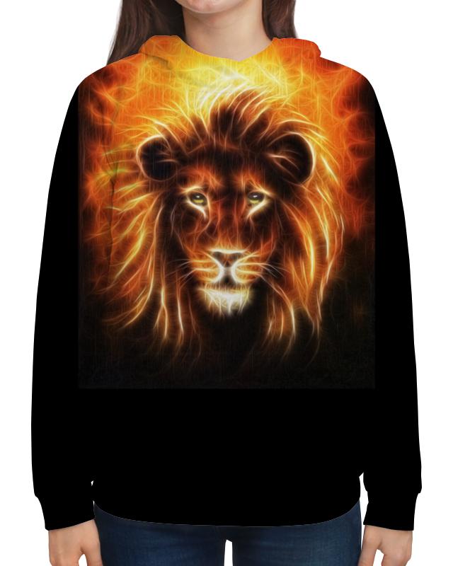 Толстовка с полной запечаткой Printio Огненный лев цена