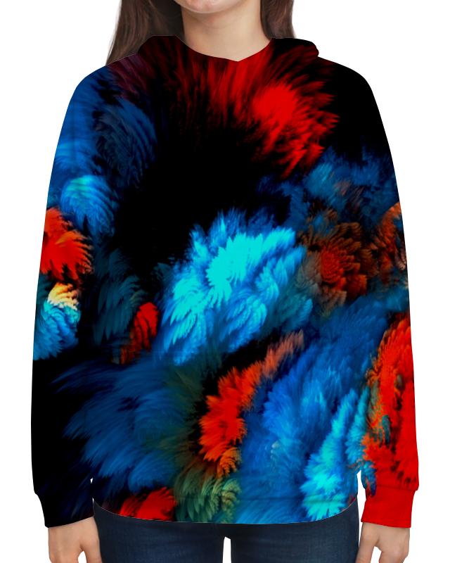 Фото - Толстовка с полной запечаткой Printio Всплеск красок толстовка с полной запечаткой printio буря красок