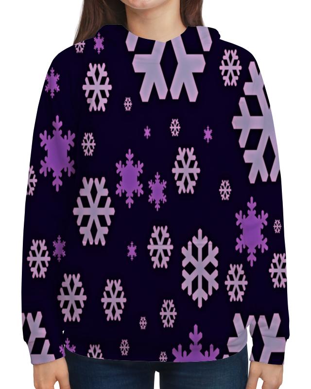 Толстовка с полной запечаткой Printio Снежинки костюм маленькой снежинки 32