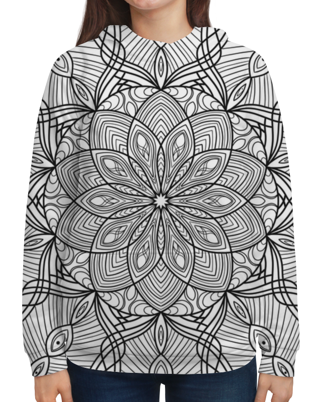 Толстовка с полной запечаткой Printio Мандала цена