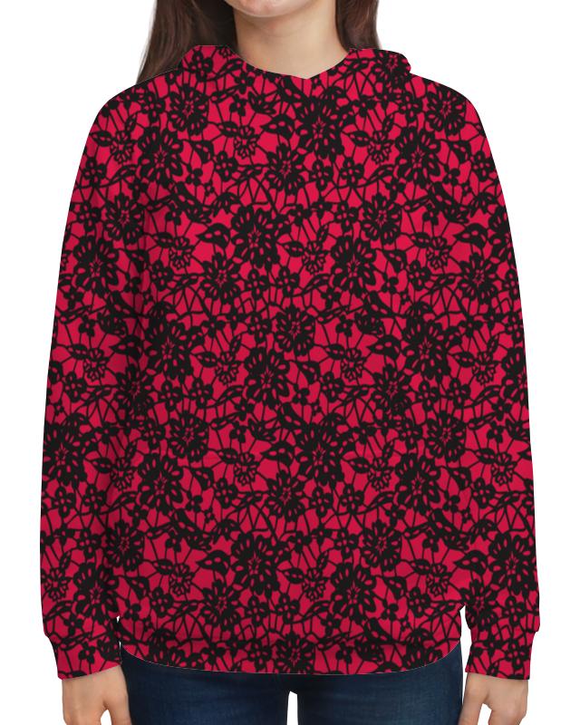 Толстовка с полной запечаткой Printio Красно-черный узор борцовка с полной запечаткой printio красно черный узор