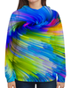 """Толстовка с полной запечаткой """"Abstract Rainbow """" - радуга, цвета, краски, абстракция"""