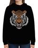 "Толстовка с полной запечаткой ""Взгляд тигра"" - рисунок, взгляд, тигр"