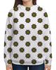 """Толстовка с полной запечаткой """"Узор  неоновых мехенди """" - цветы, орнамент, этнический, индийский, мехенди"""