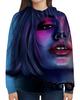 """Толстовка с полной запечаткой """"The girl is ultraviolet"""" - девушка"""