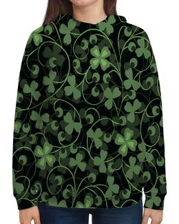 """Толстовка с полной запечаткой """"Клевер"""" - клевер, листья, зеленый, природа, листва"""
