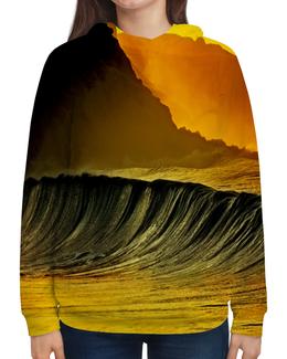 """Толстовка с полной запечаткой """"Волны моря"""" - море, краски, природа, пейзаж, волны"""