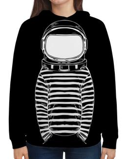 """Толстовка с полной запечаткой """"Космос"""" - space, космос, скетч, космонавт, в шлеме"""