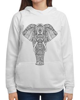 """Толстовка с полной запечаткой """"Индия"""" - узор, животные, слон, роспись, индия"""