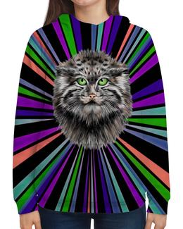 """Толстовка с полной запечаткой """"Снежный барс"""" - животные, коты, звери, барс, снежный барс"""