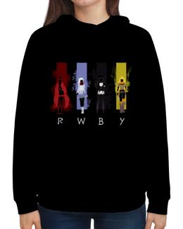 "Толстовка с полной запечаткой ""RWBY "" - аниме, rwby, red white black yellow, красный белый черный желтый, ruby weiss blake yang"