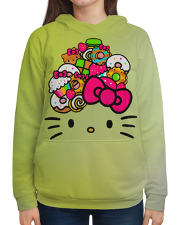 """Толстовка с полной запечаткой """"Hello Kitty"""" - арт, hello kitty, мультфильм, мультсериал, хелло китти"""