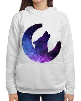 """Толстовка с полной запечаткой """"Space animals"""" - stars, космос, вселенная, wolf, галактика"""