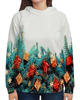 """Толстовка с полной запечаткой """"Подарки на елке"""" - елка, игрушки, новый год, подарки, праздник"""