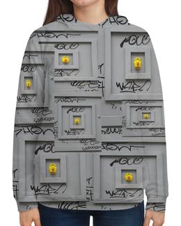 """Толстовка с полной запечаткой """"street ART in PARIS"""" - street art"""
