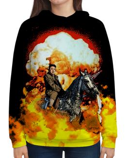 """Толстовка с полной запечаткой (Женская) """"Ким Чен Ын"""" - с путиным, с ким чен ыном, с единорогами, с конем, с ядерным взрывом"""