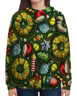 """Толстовка с полной запечаткой """"Елочные игрушки"""" - праздник, новый год, игрушки, подарки, елка"""